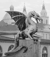 Zmajski most (Dragon bridge), Ljubljana, Slovenia